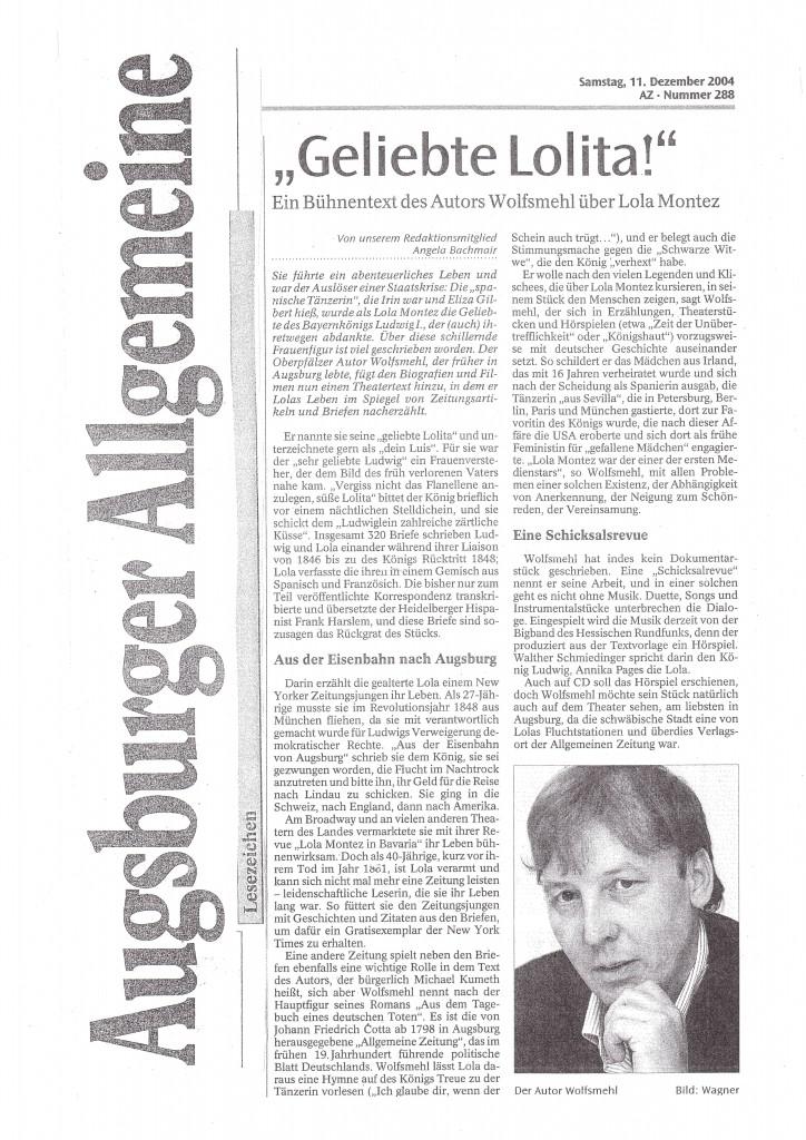 Augsburger Allgemeine - Lola Montez