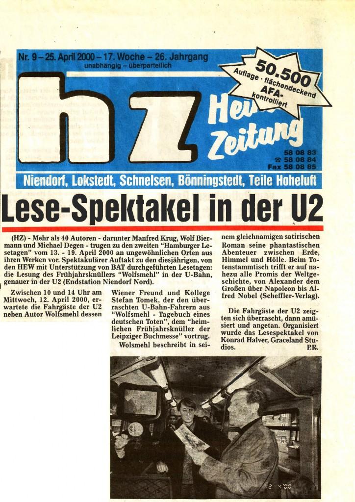 Hamburger Lesetage 2000