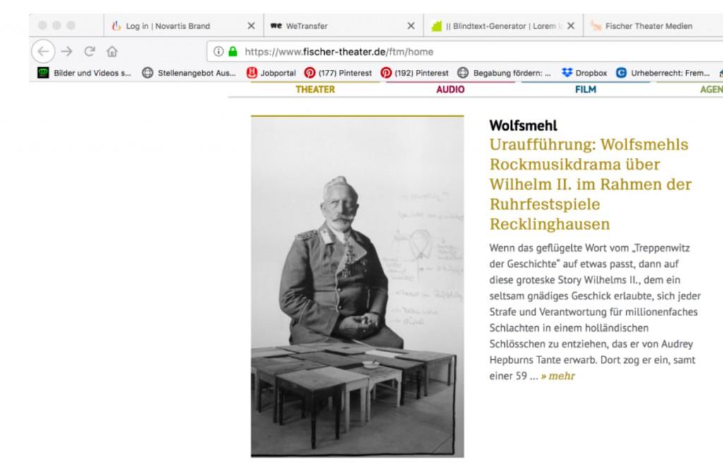 S. Fische Wilhelm - Ankündiging Journal